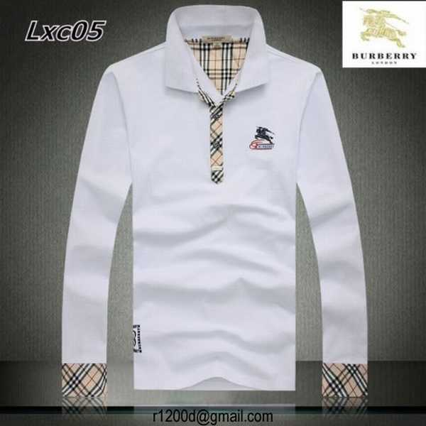 Longues Polo Longues Burberry Homme Manches